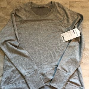NWT Athleta criss cross sweatshirt heathered gray